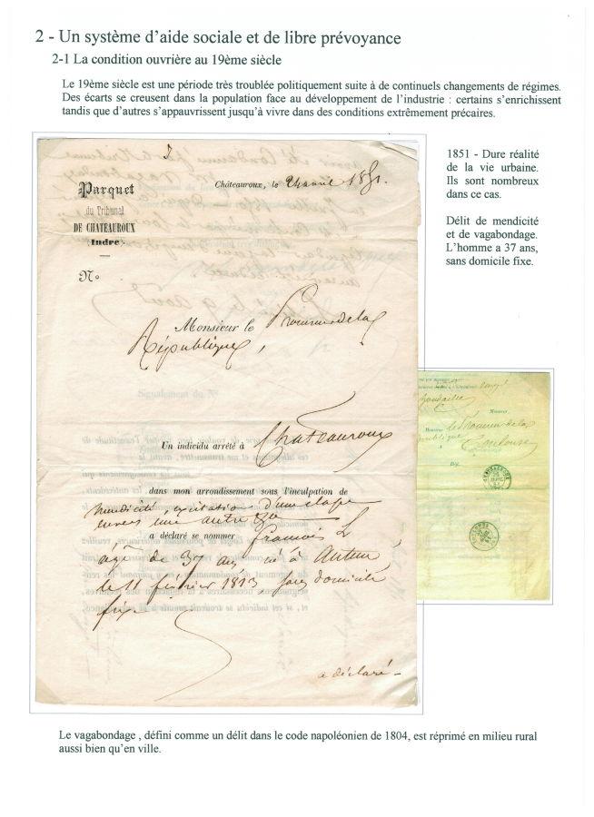 En 1851, délit de mendicité