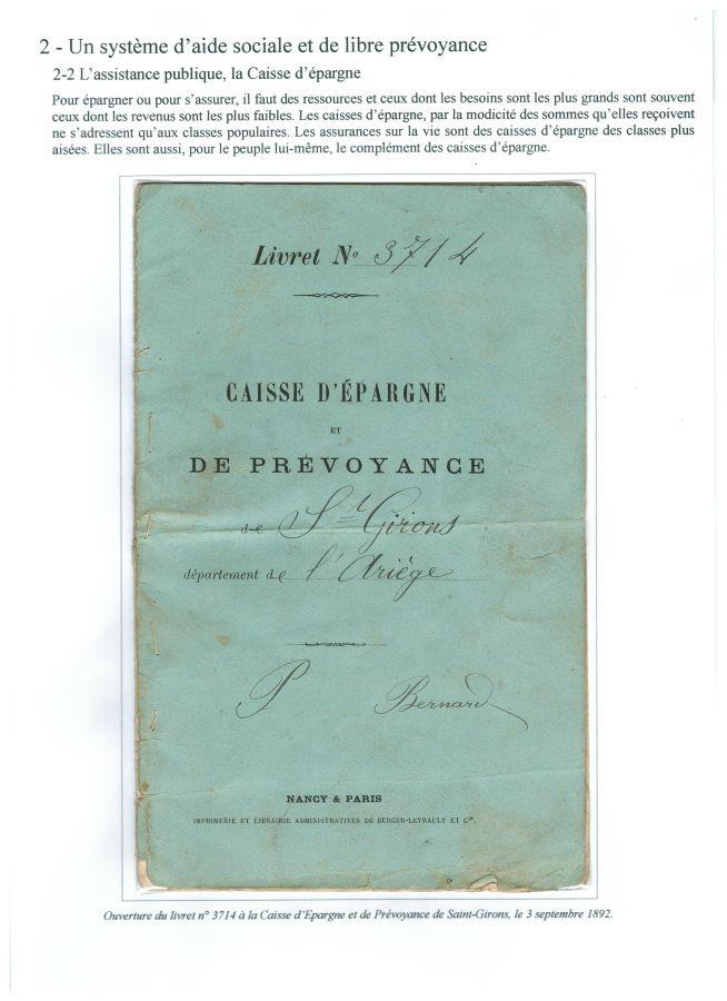 Livret de Caisse d'épargne et de prévoyance (1892)