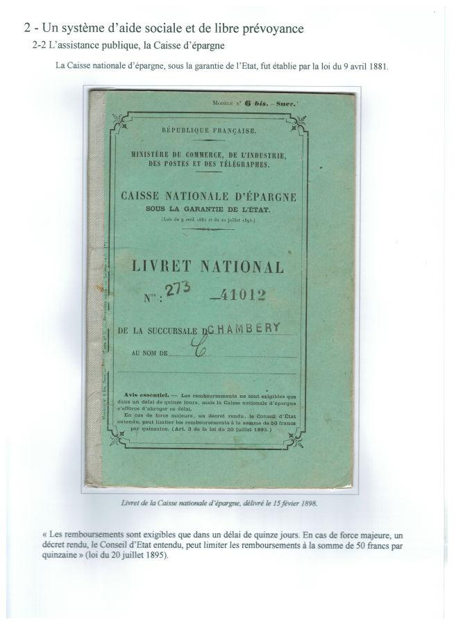 Livret national de la Caisse nationale d'épargne (1898)
