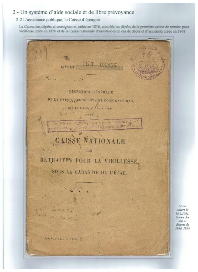 Livret de la Caisse nationale des retraites pour la vieillesse (1901)