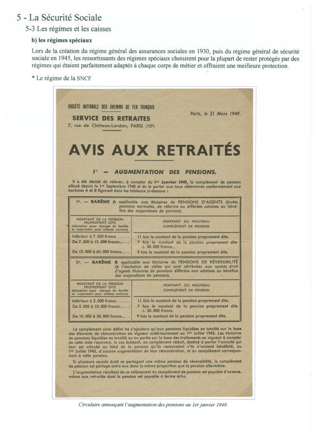 Le régime de la SNCF